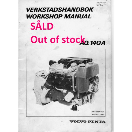 Volvo Penta verkstadshandbok AQ 140A