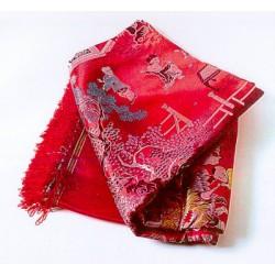 Kinesisk siden duk